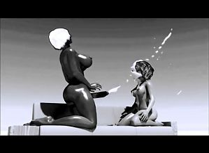 anim 3D replay black and white