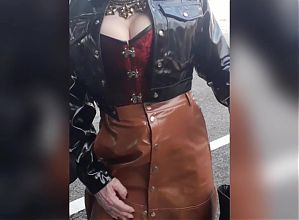 Sissiy Sophie, going out with my new victorian corset