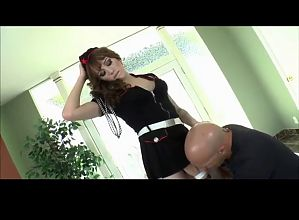 Shemale Gets Her Ass Drilled and  Cums BVR