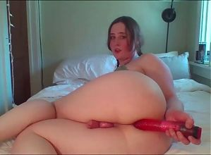 Thick tranny shows no mercy to her big ass